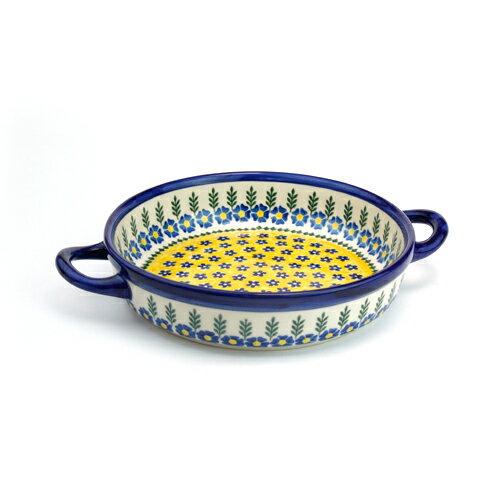 ラウンドキャセロール・小[V152-U198]【ポーリッシュポタリー[ポーランド食器・陶器]】
