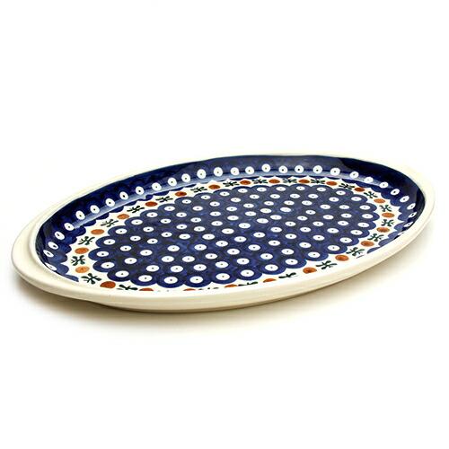 オーバル大皿[W328-11]【ポーリッシュポタリー[ポーランド食器・陶器]】