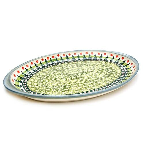 オーバル大皿[W328-123]【ポーリッシュポタリー[ポーランド食器・陶器]】