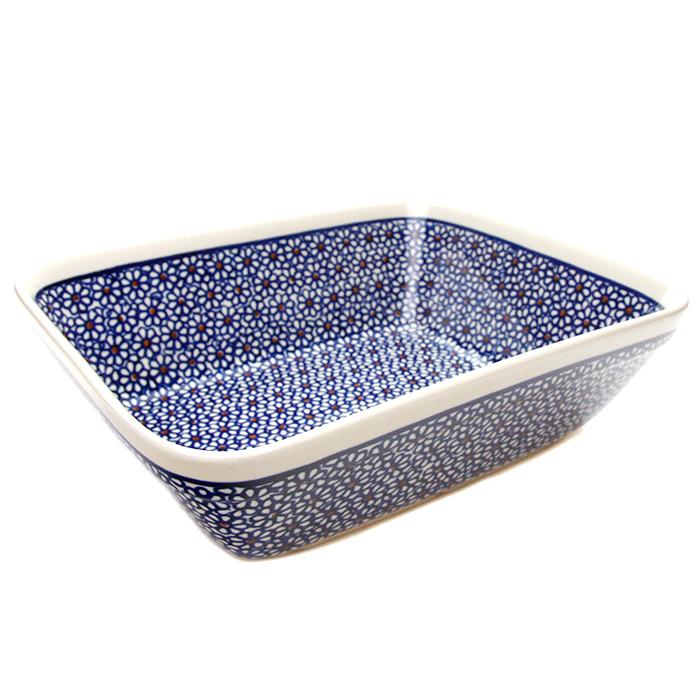 オーブン皿(グラタン皿)・大[Z1350-120]【ポーリッシュポタリー[ポーランド食器・陶器]】