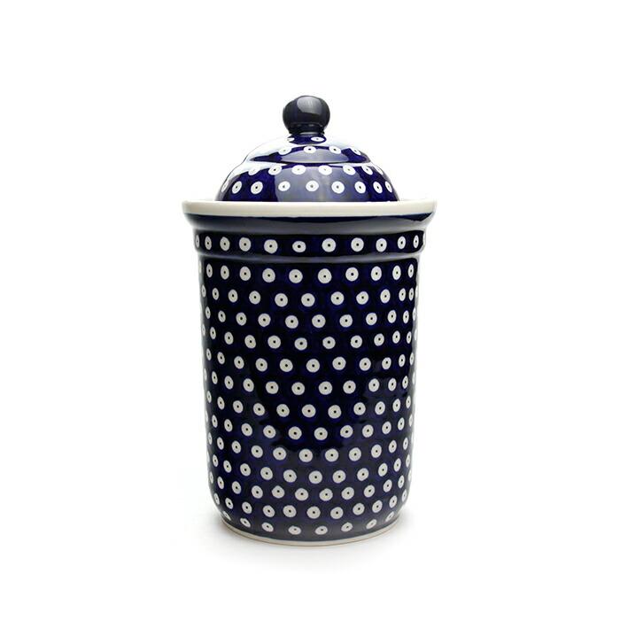 キャニスター[Z1244-42]【ポーリッシュポタリー[ポーランド食器・陶器]】