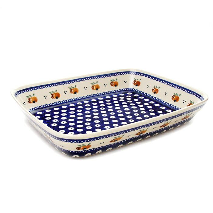 オーブン皿・スクエア・大[Z370-479]【ポーリッシュポタリー[ポーランド食器・陶器]】