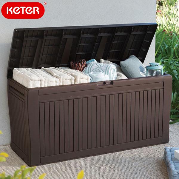 Keter社のウッド調収納ボックス ケター コンフィーガーデンボックス Keter お得クーポン発行中 激安通販 Box Garden Comfy 大型宅配便