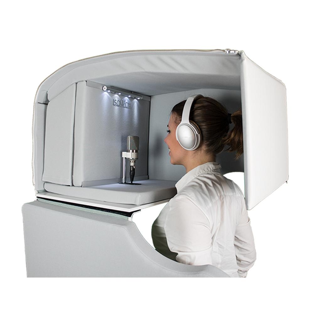 頭部全体を覆うことの出来る全く新しいレコーディングツール ISOVOX 日時指定 ISOVOX2 アイソボックス 新作 大人気 White