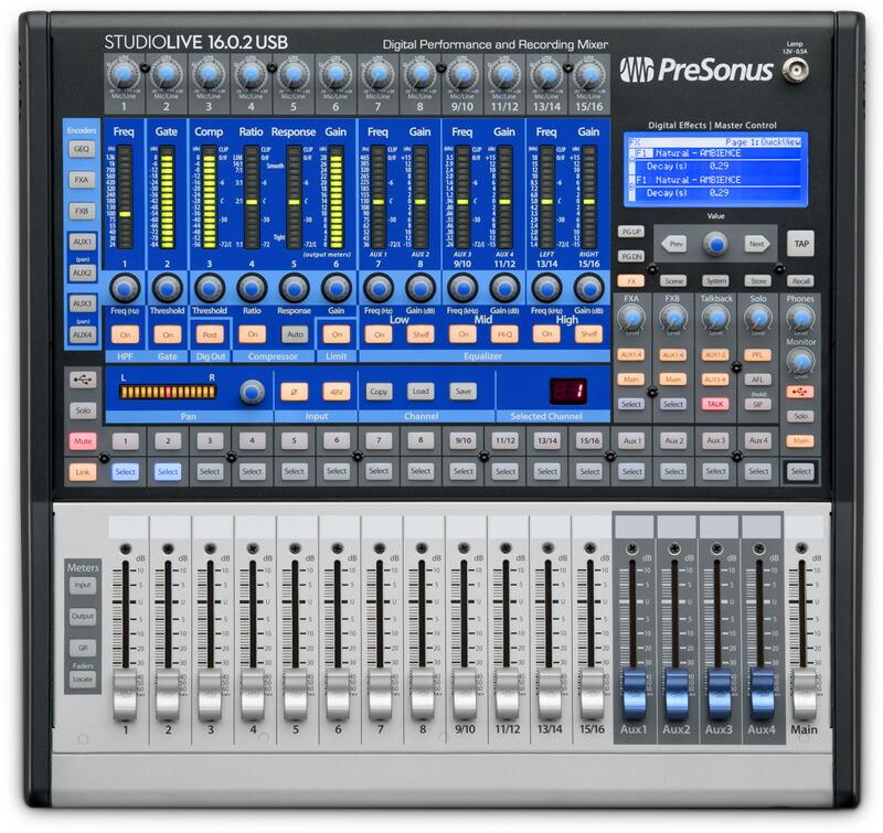 パフォーマンス USBレコーディングデジタルミキサー PreSonus プレソーナス 春の新作続々 16.0.2 USB 訳あり商品 送料無料 StudioLive