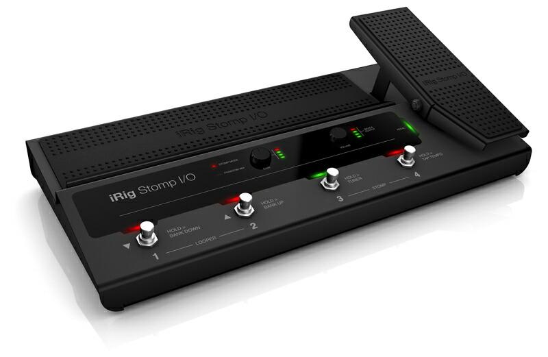 ライブ レコーディングの両方で使える究極のペダルボード 入荷予定 コントローラー IK Multimedia iRig I おすすめ特集 Stomp 送料無料 O