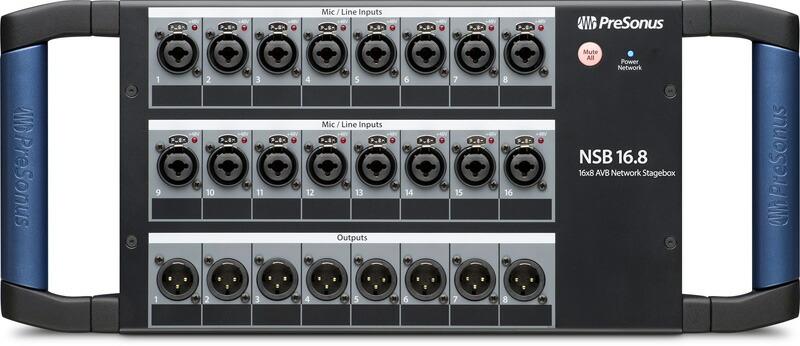 AVBネットワーク接続ステージ ボックス PreSonus NSB 16.8 -AVB 送料無料 贈物 Stage-to-Console 気質アップ Solution-