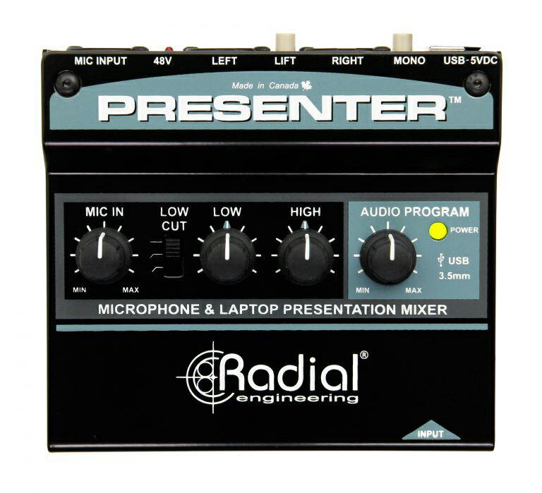 イベントや講義などのプレゼンテーション向けにデザインされたオーディオミキサー Radial Presenter プレゼンテーション 人気ブランド 送料無料 送料無料でお届けします ミキサー オーディオ
