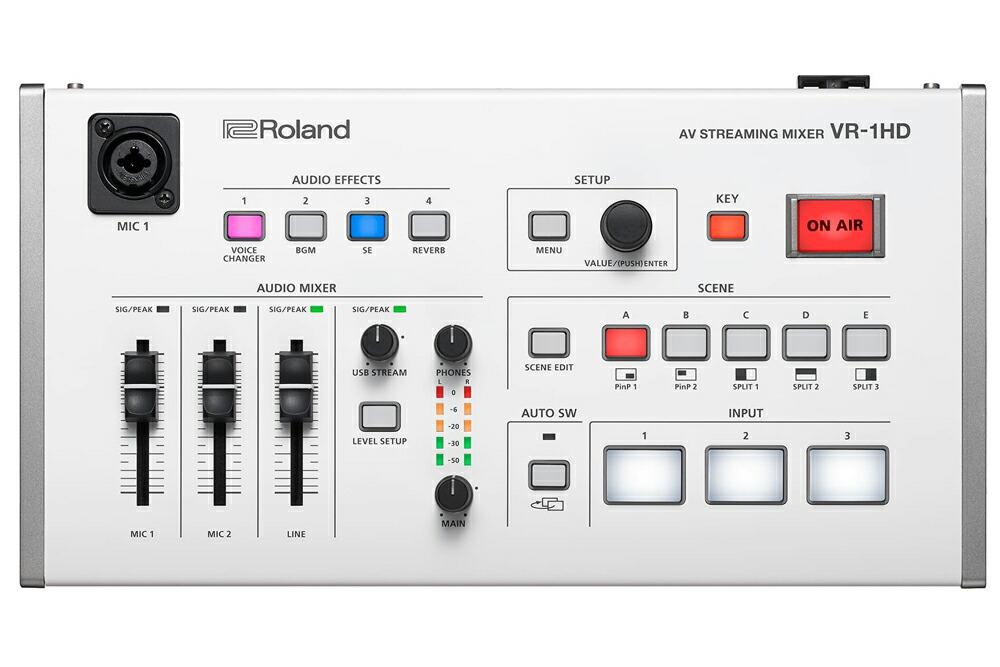 ローランド ストリーミングミキサー Roland 直営店 AV 送料無料でお届けします 送料無料 STREAMING MIXER VR-1HD