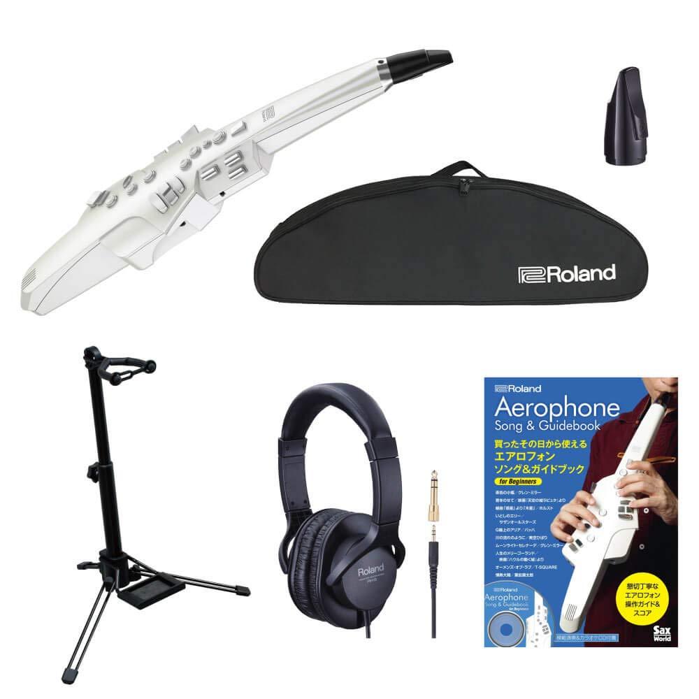 管楽器で好きな曲をかっこよく吹きたい方のための新しい電子楽器です ローランド Roland Aerophone AE-10 エアロフォン AE10 スタンドセット 純正交換用マウスピース ケース付 送料無料 ヘッドホン !超美品再入荷品質至上! 毎日がバーゲンセール 教則本