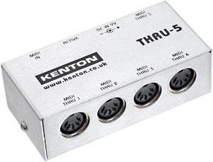 入力されたMIDI信号を5個のMIDI Thru端子に分配するMIDIスルーボックス オンラインショッピング THRU-5 大幅にプライスダウン KENTON