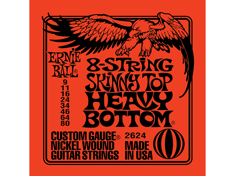 ernieball [#2624] 8-String Slinky Skinny Top Heavy Bottom 12セット