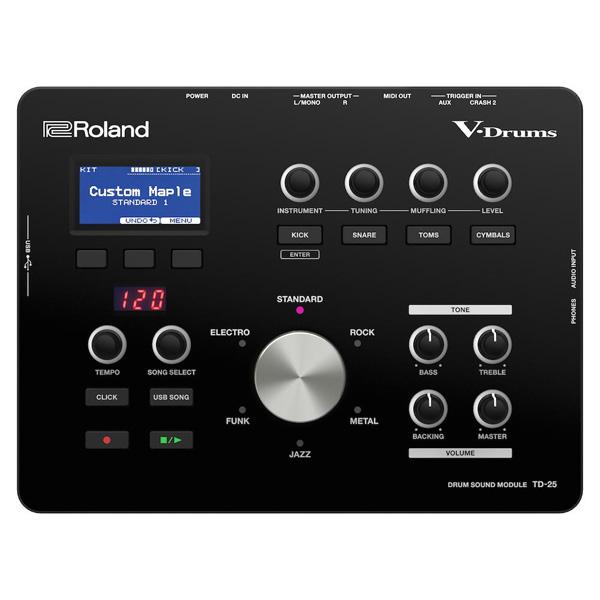 電子ドラム ローランド Roland V-Drums Drum Sound Module TD-25 Version 1.10【送料無料(離島を除く)】