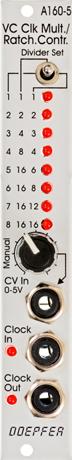 最新発見 Doepfer A-160-5 VC Clock Clock A-160-5 Multiplier/Ratcheting Controller【送料無料 Doepfer】, JI-RO インポートジュエリー:ed5ea1c1 --- canoncity.azurewebsites.net