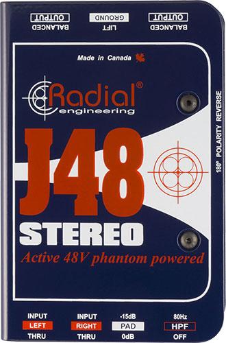 Radial J48 Stereo 【国内正規輸入品】 【 スタジオクオリティ向上計画 】【 RECORDING EFFECTOR 】【送料無料】