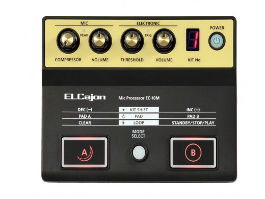 アコースティック・カホンに新たな表現力をプラス。専用マイクと音源を搭載した、カホン専用マイク・プロセッサー Roland EC-10M ELCajon Mic Processor【送料無料】