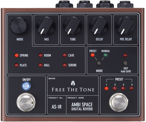 FREE THE TONE AMBI SPACE AS-1R DIGITAL REVERB【送料無料】