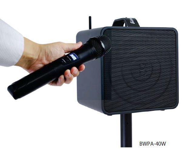 BELCAT BWPA-40W ワイヤレス ポータブル PAアンプ (2チャンネル)【送料無料】