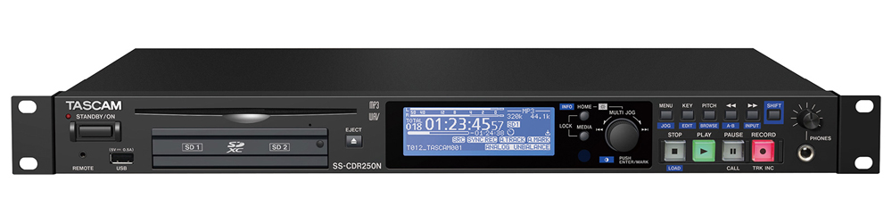 TASCAM タスカム SS-CDR250N ソリッドステート/CDステレオオーディオレコーダー【送料無料】