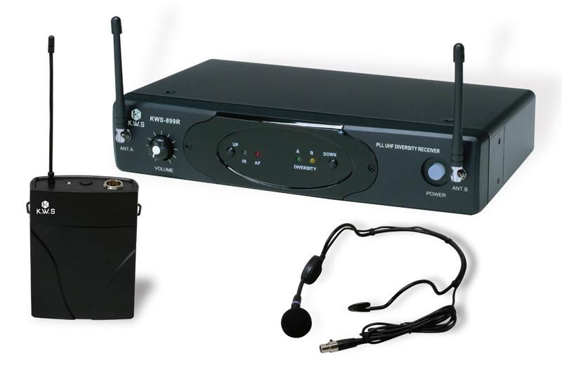 K.W.S ワイヤレスシステム KWS-899P/HM-38 ヘッドセットマイクシングルタイプ【送料無料】