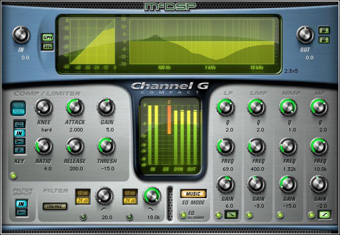 MCDSP Channel G Compact Native v6【送料無料】【ダウンロード販売】