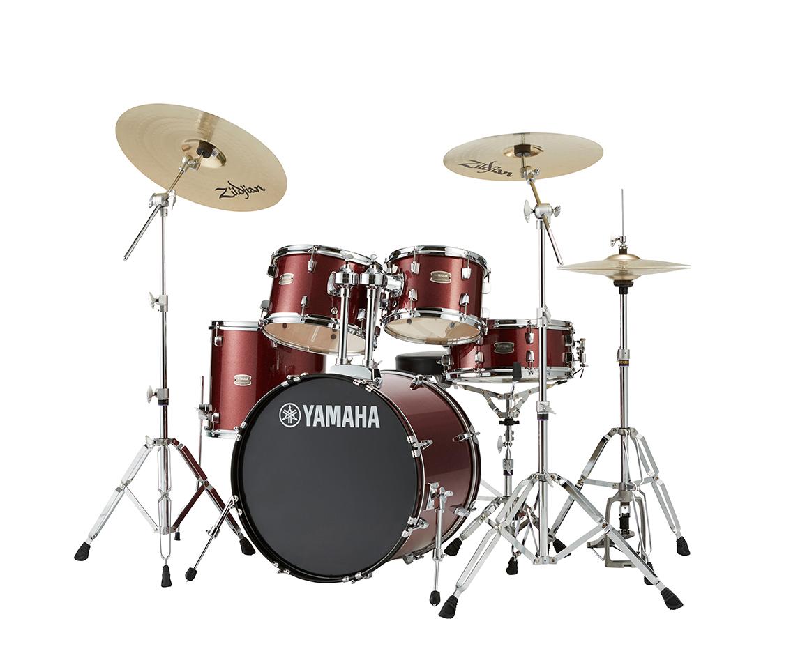 YAMAHA ドラムセット RYDEEN スタンダードセットRDP2F5STD バーガンディグリッター:BGG<BR>【送料無料】