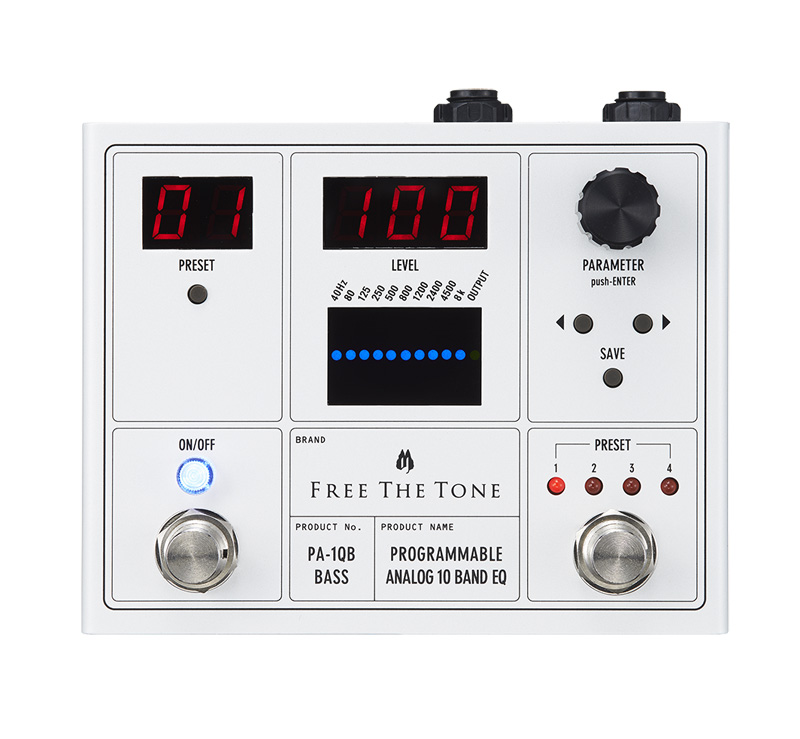 Free the Tone フリーザトーン PA-1QB (ベース用) PROGRAMMABLE ANALOG 10 BAND EQ【送料無料】