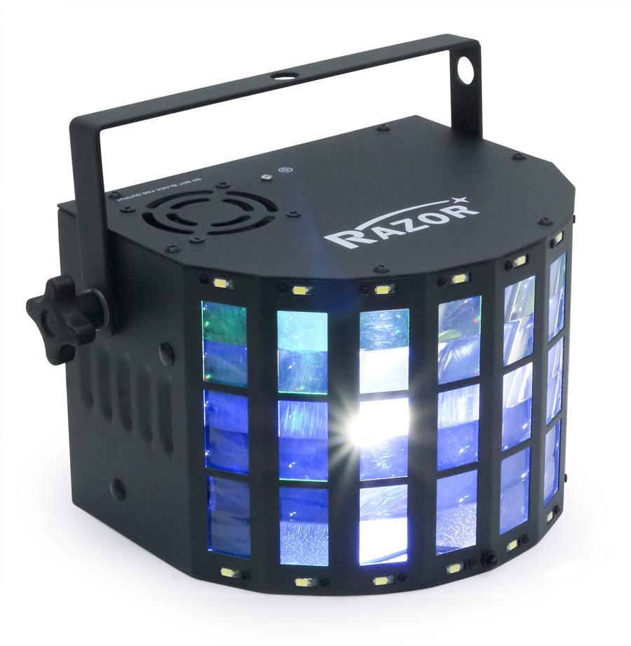 E-LITE ダービーライト+ストロボライト RAZOR ST 簡易ステージ照明【送料無料】