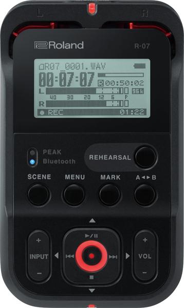 Roland ローランド オーディオレコーダー R-07 BK High Resolution Audio Recorder (R07)【送料無料】