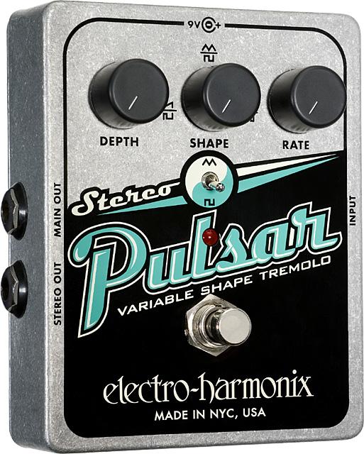 electro-harmonix Stereo Pulsar -Variable Shape Analog Tremolo-