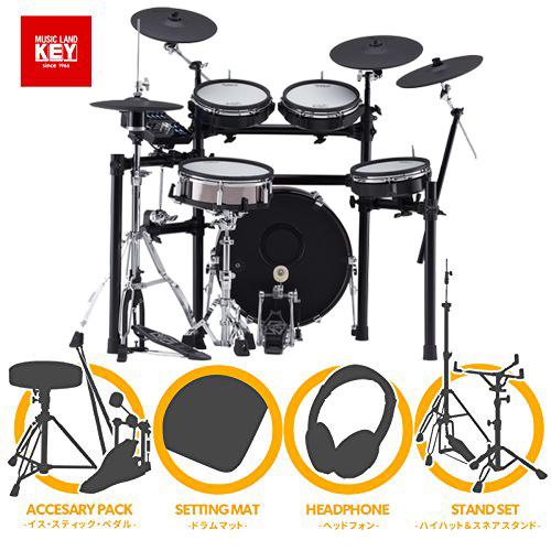 電子ドラム ローランド Roland TD-25KVX W/KD-180 + MDS-9SC フルオプションセット【ペダル・マット・イス・スティック・ヘッドホン・ハイハットスタンド・スネアスタンド付き】【送料無料】