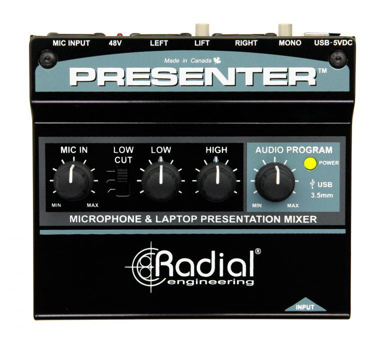 Radial Presenter プレゼンテーション・オーディオ・ミキサー【送料無料】