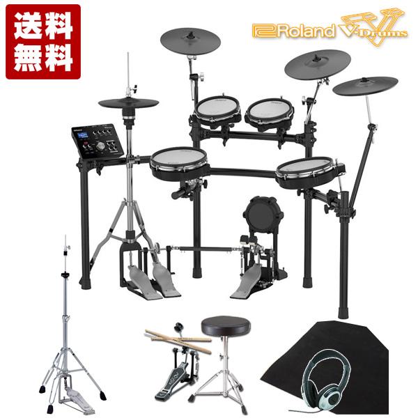 電子ドラム ローランド Roland V-Drums TD-25KV-S 【イス、ペダル、スティック、ヘッドホン、ハイハットスタンド、ドラムマット付き】【送料無料】