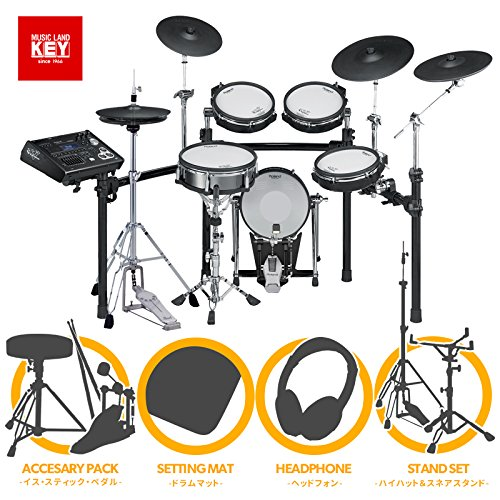 Roland ローランド V-Drums TD-30K-S Premium【Pearl製ハイハットスタンド、スネアスタンド/シングルペダル 、マット、スローン、スティック、ヘッドホン付き】【送料無料】