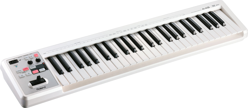 Roland ローランド A-49 WH -MIDI Keyboard Controller-<BR>【送料無料】