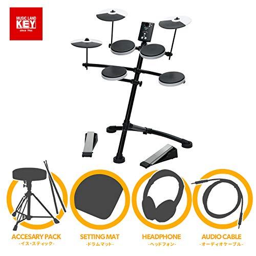 ローランド 電子ドラムRoland V-Drums Kit TD-1K MUSICLAND KEYオリジナル フルオプションセット 【マット・イス・スティック・ヘッドホン・オーディオ接続ケーブル付き】【送料無料】