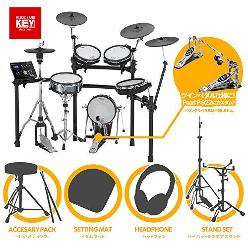 【品切れ中 次回入荷分ご予約受付中】電子ドラム ローランド Roland V-Drums TD-25KV-S Ultra+【Pearl製ツインペダル・ハイハットスタンド・スネアスタンド/マット・イス・スティック・ヘッドホン付き】【送料無料】