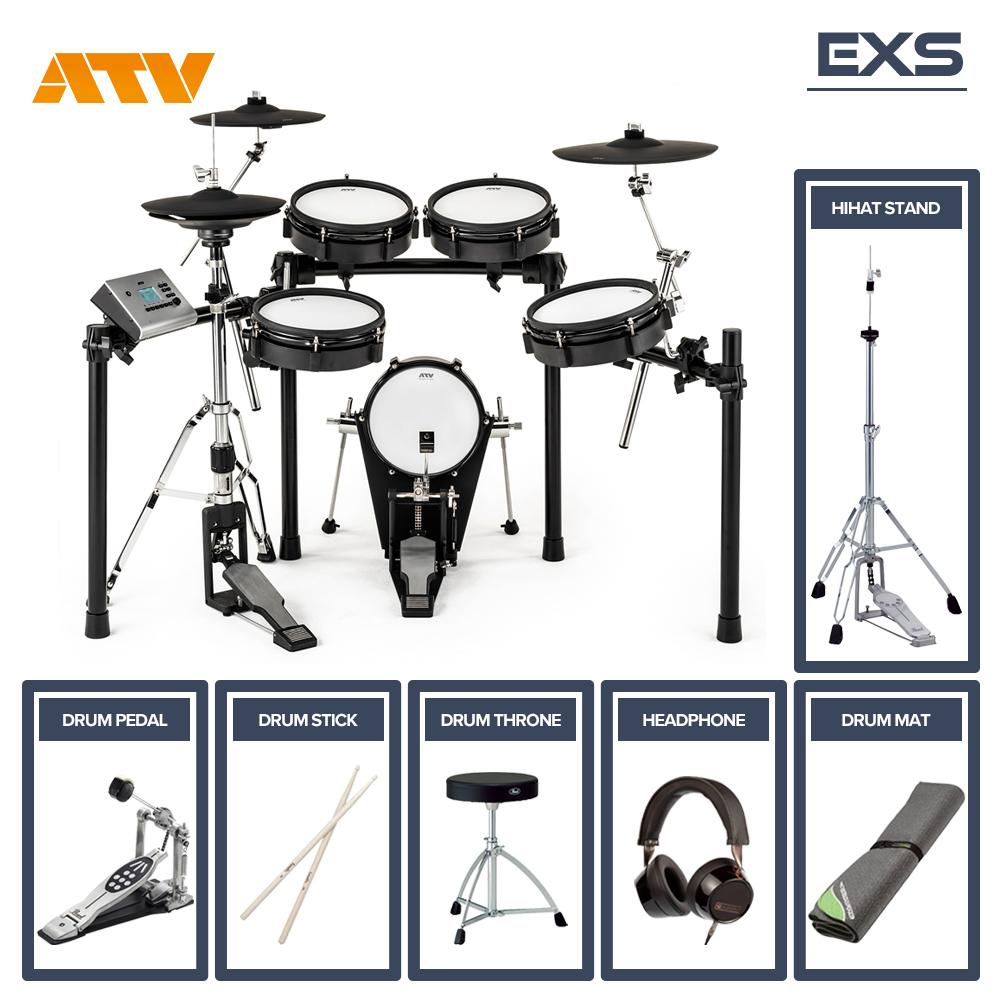 電子ドラム ATV EXS-3 シングルフルオプションセット【送料無料】