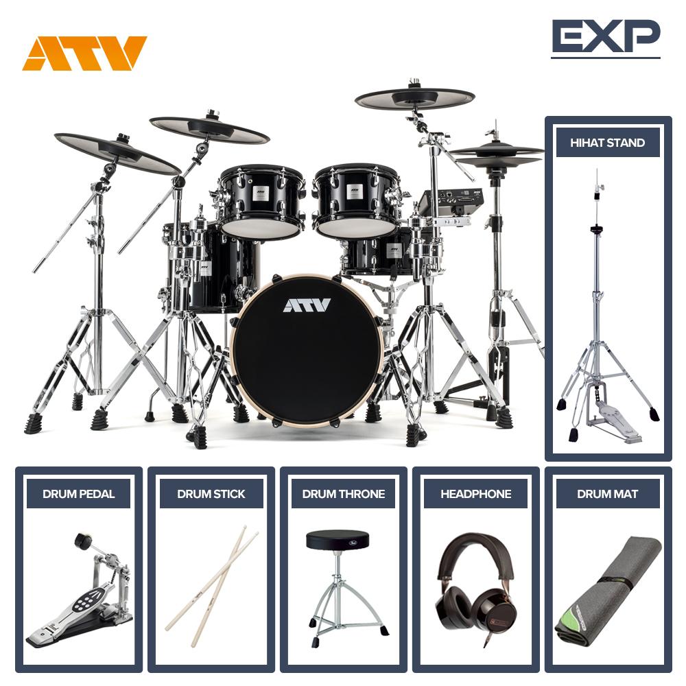 電子ドラム ATV aDrums EXPANDED SET ADA-EXPSET フルオプションセット (シングルペダル)【送料無料】