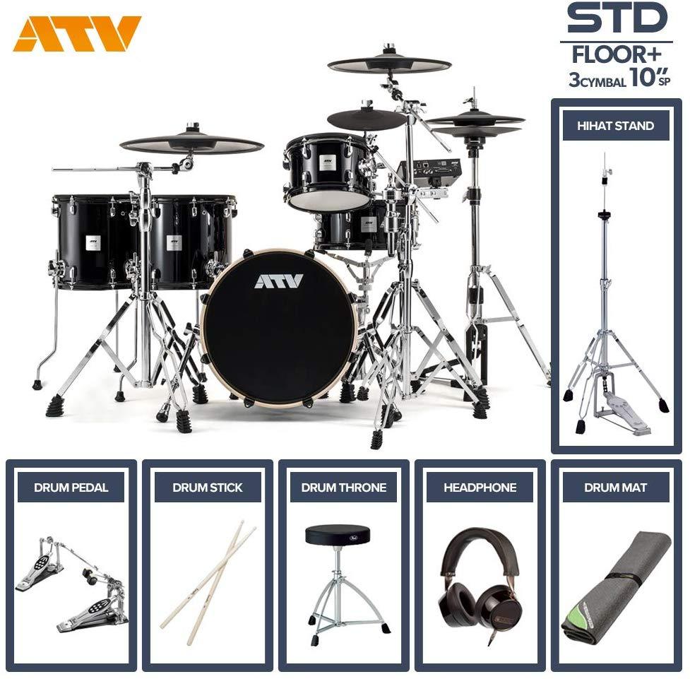 電子ドラム ATV aDrums artist STANDARD SET ADA-STDSET 2フロアタム 3Cymbal フルオプションセット (10