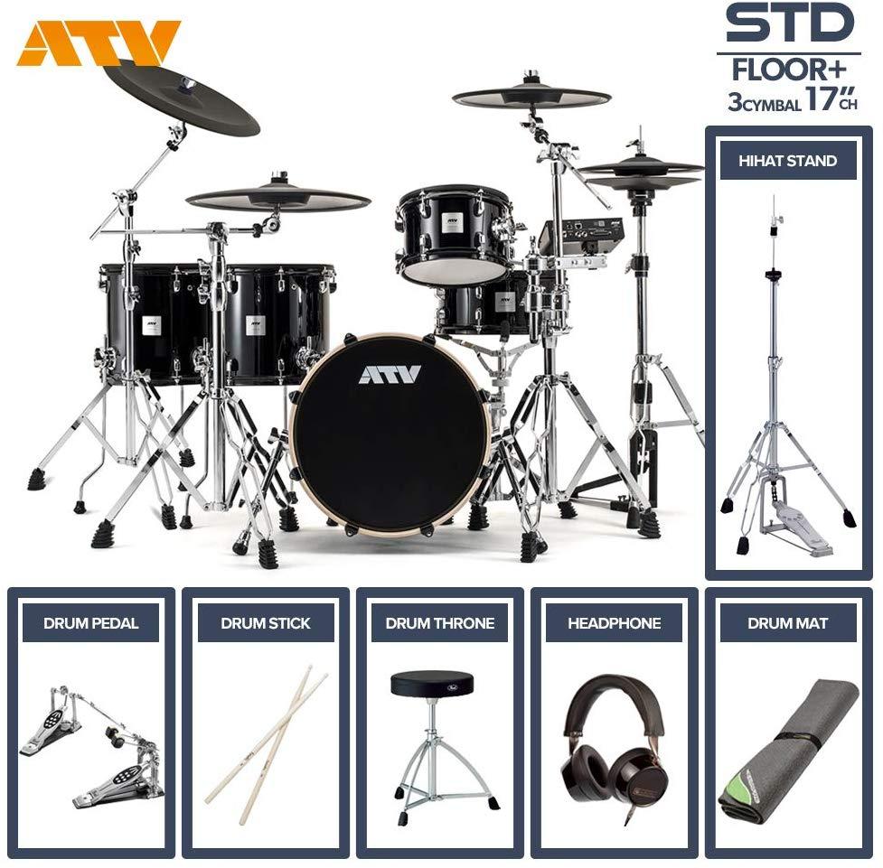 電子ドラム ATV aDrums artist STANDARD SET ADA-STDSET 2フロアタム 3Cymbal フルオプションセット (17