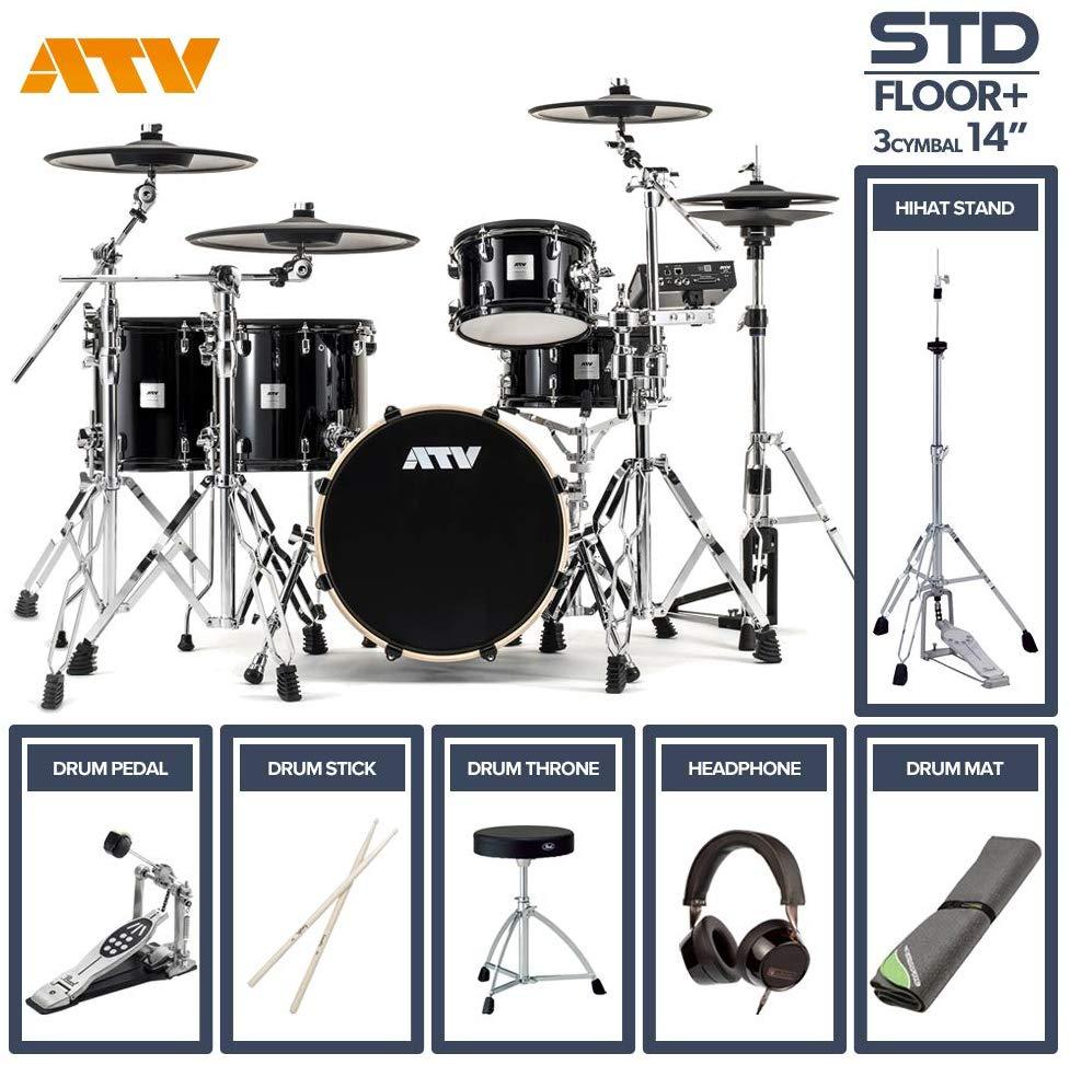 電子ドラム ATV aDrums artist STANDARD SET ADA-STDSET 2フロアタム 3Cymbal フルオプションセット (14
