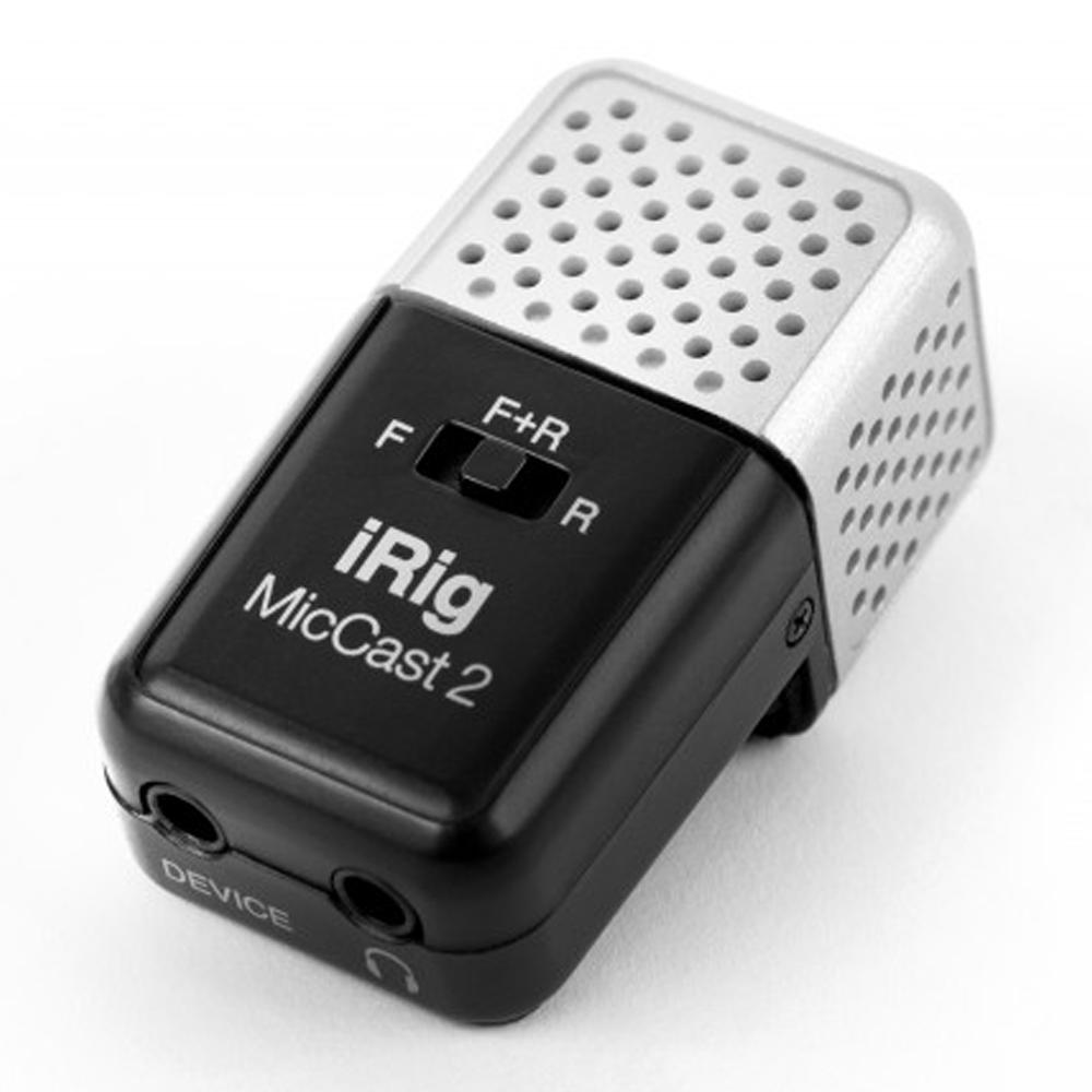 フロント リア マイクを搭載したアナログ接続マイクロフォン IK 大幅にプライスダウン iRig 最新アイテム Multimedia MIC Cast2
