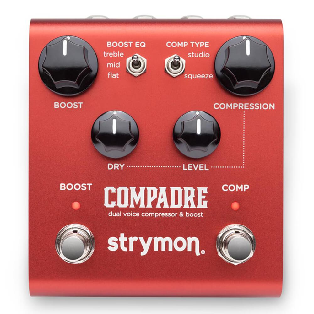 デュアルボイスのコンプレッサー ブースト strymon COMPADRE dual boost 超美品再入荷品質至上 送料無料 voice compressor 世界の人気ブランド
