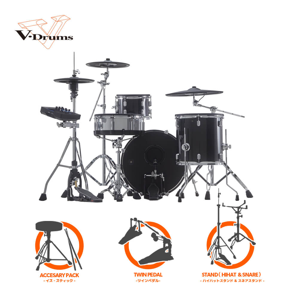 Roland V-Drums Acoustic Design Series VAD503 + KD-200-MS ツインバリューセット【送料無料】