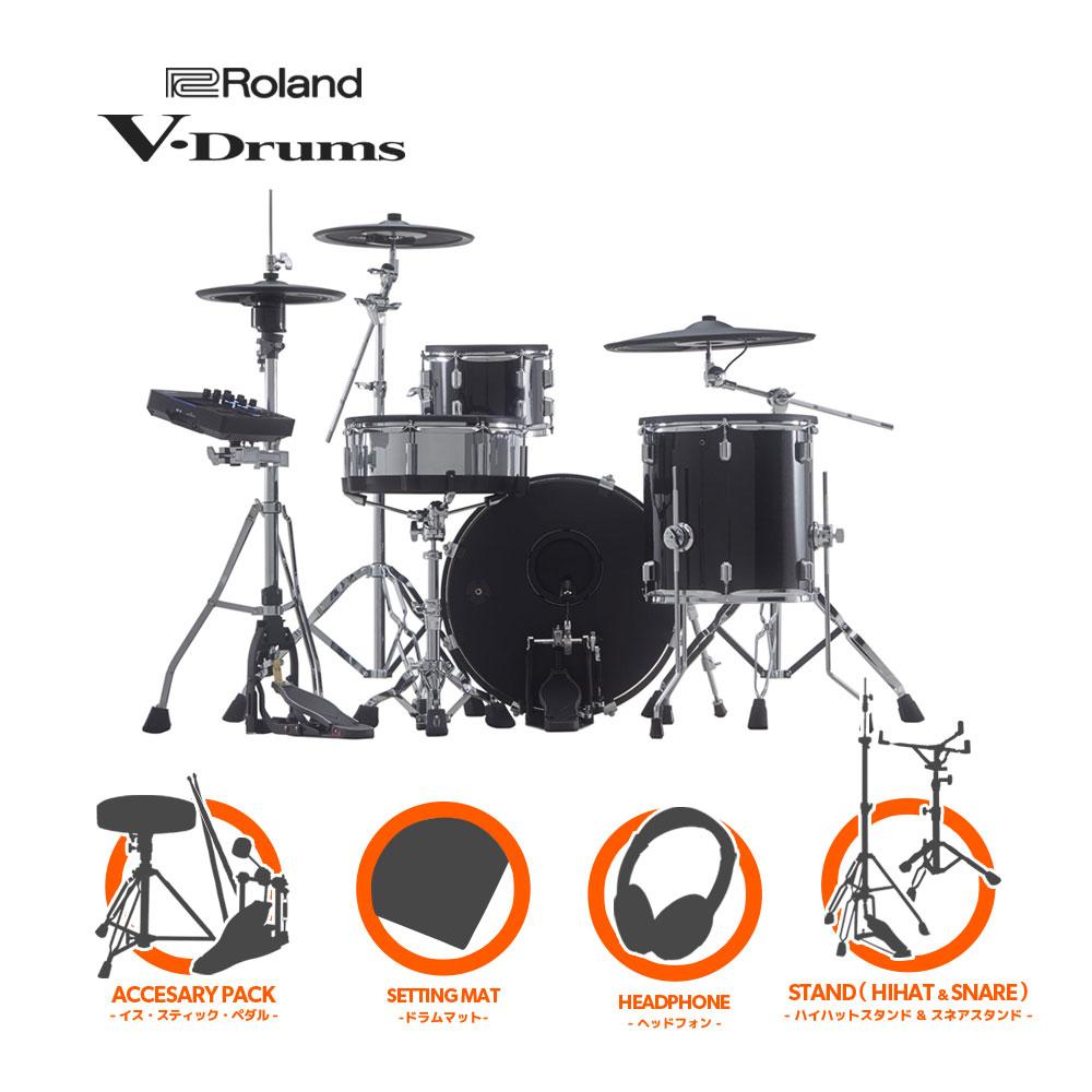 Roland V-Drums Acoustic Design Series VAD503 + KD-200-MS シングルフルオプションセット【送料無料】