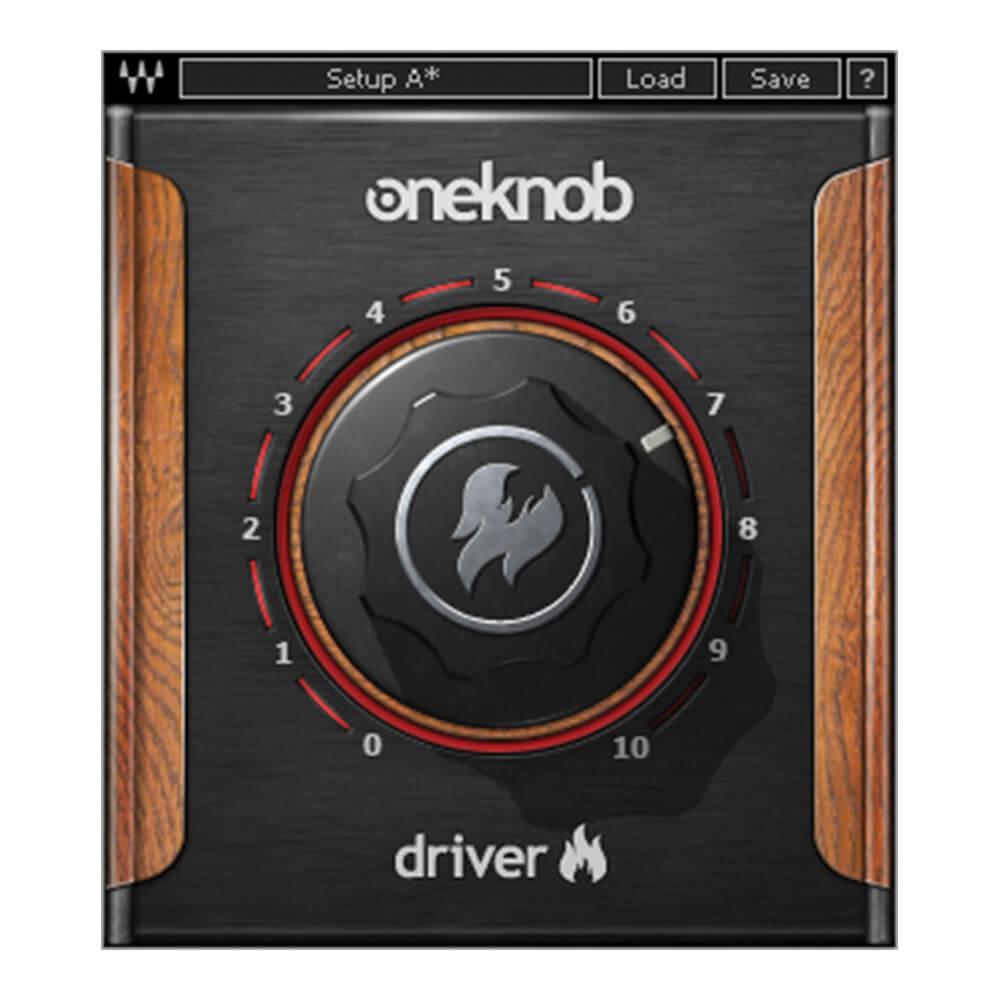 軽めのオーバードライブから 振り切ったディストーションまで 様々な歪みを得ることができる プラグイン WAVESOneKnob 新品 好評 メール納品 Driver