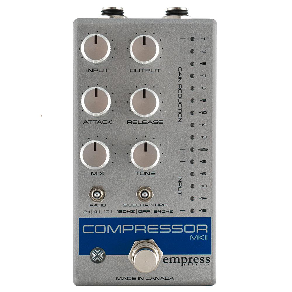 レコーディング 全店販売中 スタジオ品質のコンプレッサーを足下に Empress Effects あす楽対応_関東 トレンド シルバー Compressor MKII