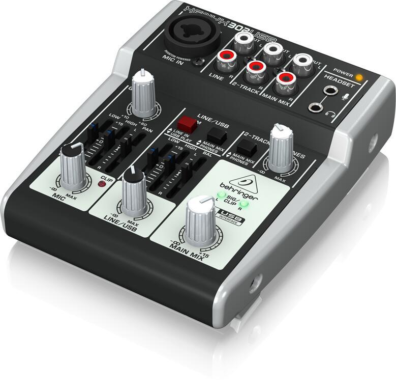 高品質新品 USBオーディオインターフェースを搭載したアナログ ミキサー Behringer XENYX スーパーセール 302USB