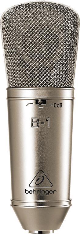 金加工を施した1インチラージダイアフラム搭載のプロフェッショナルコンデンサーマイクロホン 全品送料無料 Behringer 通信販売 B-1